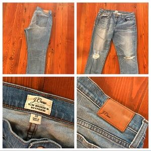 J Crew Slim Broken In Boyfriend Jeans